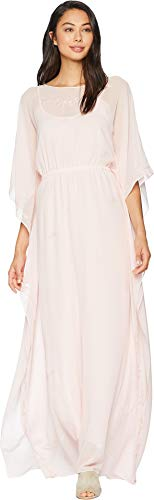 Pink Caftan - Juicy Couture Women's Georgette Caftan Dress Soft Pink Small