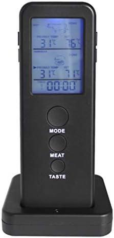 QCSTORE Dual-Probe-Küchen-Food-Nadel-Grillgabel-Thermometer mit Drahtlosem Digitalem Timer-Küchengerät