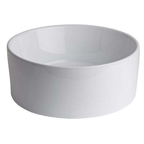 Vasque /à poser ronde en c/éramique blanc