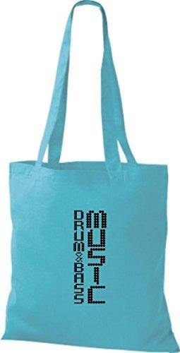 Shirtinstyle - Cotton Fabric Bag Women - Sky Blue