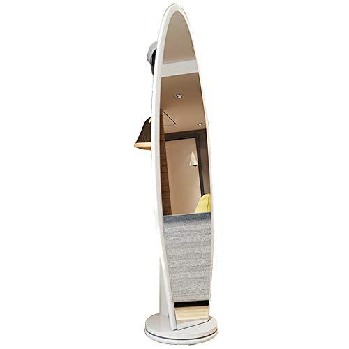 Espejos de Piso de Cuerpo Entero de pie Perchero de Cuerpo Completo de Cuerpo Largo de Ajuste a casa Grande rotación de 360...