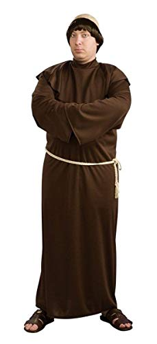 Rubie's Costume Co. Men's Plus Size Monk Robe with Bald Head Costume