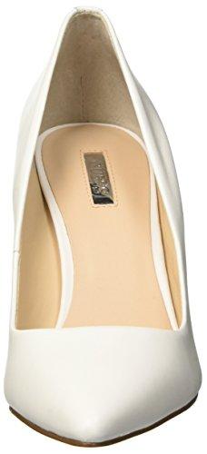 Guess Bennie, Zapatos con Tacón de Piel de Piel para Mujer Bianco
