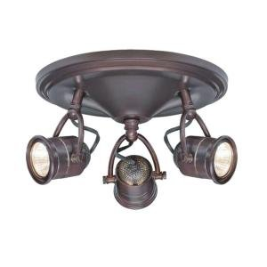 3 Light Antique Bronze Round B 7.52