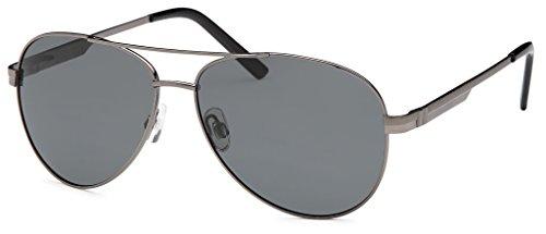 avec qualité dans haute pilotes lunettes Verre accessoires Filter soleil et Anthracite de polarisé Set avec ressort Charnière UV400 Fumé Unisexe à TWqq1dyg