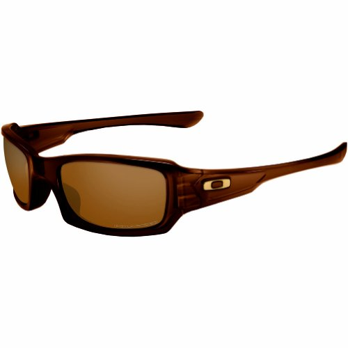 Oakley Men's Fives Squared OO9238-08 Rectangular Sunglasses, Polished Root Beer, 54 - Sunglasses Oakley Polarized 5
