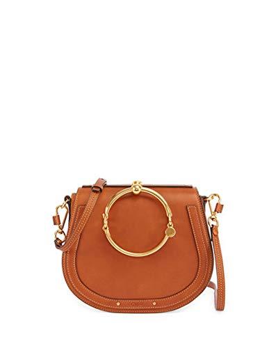 f9becb2e80a Chloe Nile Medium Bracelet Crossbody Bag made in Italy (brown ...