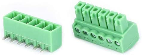 10 Pairs 6-Pin Screw Terminal Block 15EDG 3.81mm Pitch Male Female Pluggable Terminals Wire /& Cable Connectors Davitu Terminals