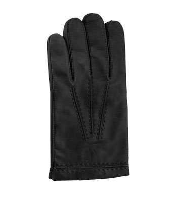 Men's Lambskin Leather Gloves with Cashmere lining by GRANDOE, Small, Black