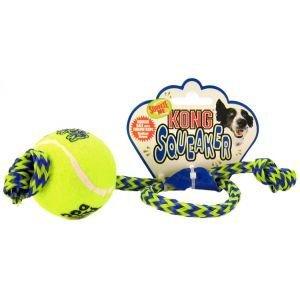 Amazon.com: 3 x Kong Medium Airdog Squeakair pelota de tenis ...