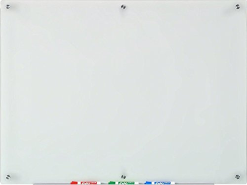 Audio-Visual Direct Frosted Glass Dry-Erase Board Set - 35 1/2 x 47 1/4 Inches - (Non-Magnetic) ()