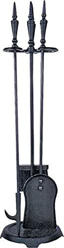 """poker fireplace tool stand brush Rocky Mountain Goods Fireplace Tool Set Wrought Iron Black 29/"""" Decorative // Functional Long Long tool set includes shovel Heavy duty wrought Iron"""
