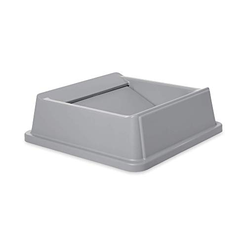 Rubbermaid Commercial Products Untouchable Square Swing Lid for 35G & 50G Containers, Gray ()