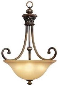 3 Light Caffe Patina Bowl Pendant Caffe Patina Foyer Pendant Light Fixtures Amazon Com