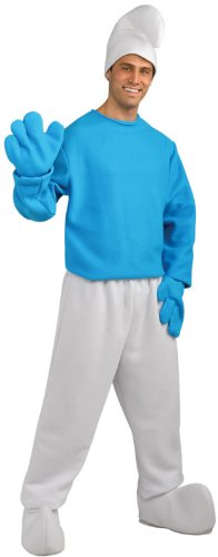 Rubie's Costume Plus-Size The Smurfs 2 Adult Deluxe Smurf, Blue/White, Plus Costume (Halloween Smurfs)