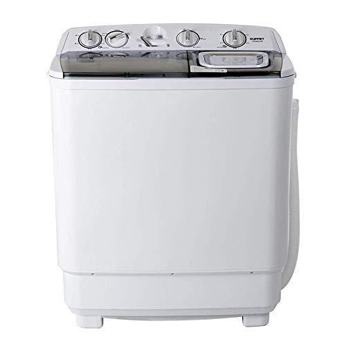 Machine Small (KUPPET Compact Twin Tub Portable Mini Washing Machine 21lbs Capacity, Washer(13lbs)&Spiner(8lbs)/Semi-Automatic (gray))