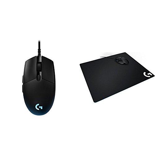 Logitech G Pro Gaming FPS Mouse & Logitech G640 Large Cloth Gaming Mousepad bundle