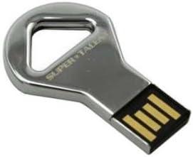 Super Talent CKB-COB 8 GB USB 2.0 Flash Drive STU8GCKBN Nickel