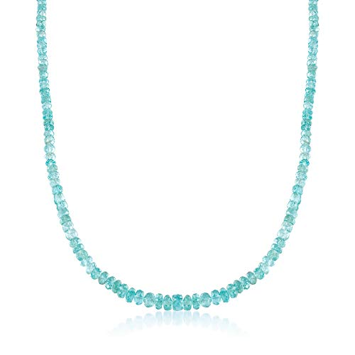 - Ross-Simons 95.00 ct. t.w. Teal Apatite Bead Necklace With Sterling Silver