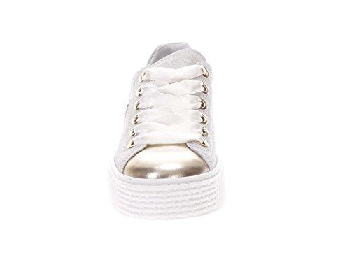 Pelle 415 oro Giardini In E Glitter Donna P805282d Bianco Nero Sneaker RIg6w6Y