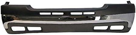 Front Bumper Upper Cap Face Bar Chrome Valance FOR 99-02 Silverado 2500HD 3500 GM1002376 GM1051106 GM1092167