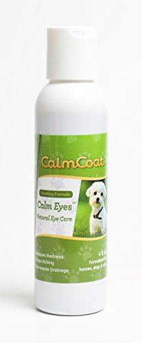 Seeing Eye Cats - Calm Coat Calm Eyes for Dogs, Cats & Horses - All Natural Eye Care Wash Rinse to Relieve Itchy, Irritated, Crusty Eyes - Helps Remove Tear Stains - 4 oz