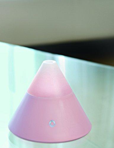 ZAQ Noor Multi Color Litemist Aromatherapy Essential Oil Diffuser - 80 ML Capacity, Pink by ZAQ