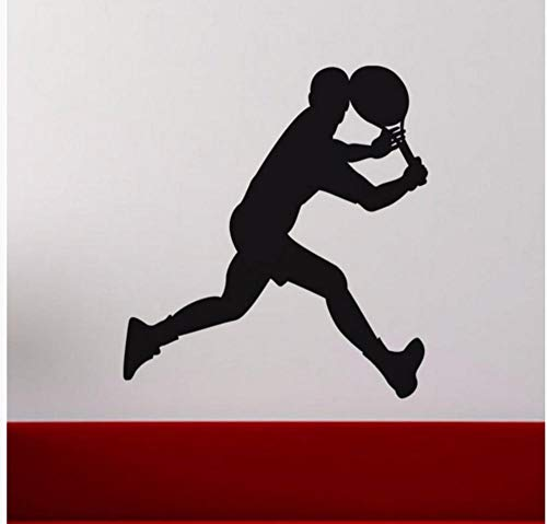 hdmfl Wall Sticker Sports Gym Run Male Tennis Player Wall Art Applique Boy Room Detachable Mural Wallpaper 58 × 61Cm (Best Male Tennis Players Of All Time)