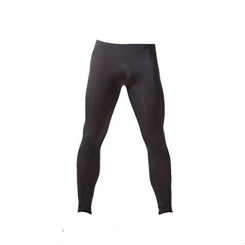 K-Men Men's Plus Size Low Rise Blue Ice Silk Long John Underwear Base Layer XXL (Low Silk Underwear Rise Long)