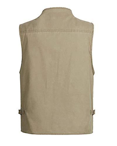 Air Pêche Gilet Beaucoup Hommes Yasminey Coton Chasse Camping De En Photographie Pour F Kaki Avec Multi Pocket Poches Plein Jeune R Loisirs 8zdqdaS