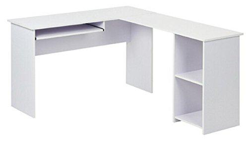 L-shaped Shelves (Fineboard L-Shaped Office Corner Desk 2 Side Shelves, White)