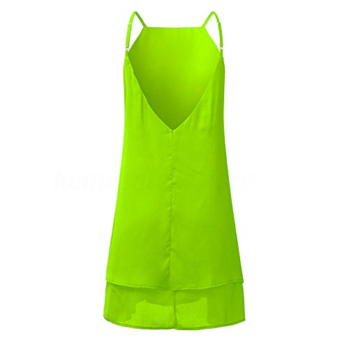 Swing Dress Loose Sleeveless Tunic Casual Women's Summer Beach Green Casual q0xPg8