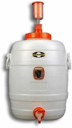 Speidel Contenedor de Bebidas Cubeta fermentador Redondos 30 L + 1 airlock + 1 Grifo plástico Ø 10 mm (90026)
