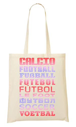 Soccer Tote Football Di Languages Sacchetto Many Bag ffH4rq