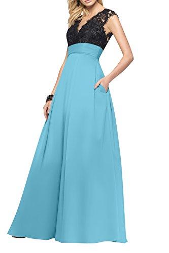 Partykleider Blau La Damen Langes A Promkleider Brau Spitze Rock Linie Tanzenkleider mia Abendkleider Festlichkleider TXqgXSw