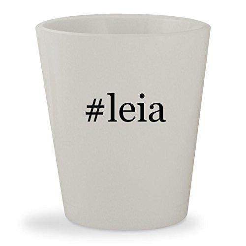 #leia - White Hashtag Ceramic 1.5oz Shot Glass