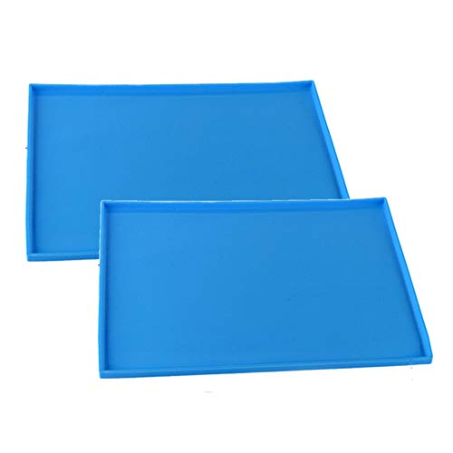 12' Pastry Roll - Premium Silicone Cake Roll Maker, Silicone Baking Mat, Multipurpose Silicone Nonstick Pastry Mat, Swiss Roll Cake Mat Flexible Baking Tray Silicone Pizza Cookies Mold Baking-2pack(10''12'', Blue)