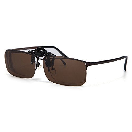 0b882a3e7a7 ABIsedrin Polarized Clip-on Flip up Clip Sunglasses Lenses Glasses  Lightweight Driving Fishing Outdoor Sports