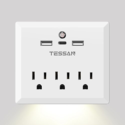 Outlets TESSAN Adapter Outlet Charging