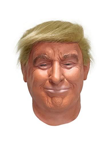 LEKA NEIL Realistic Celebrity mask-Republican Presidential Candidate Mask-Donald Trump Mask-Latex Full Head-Hair Orange,Adult Size