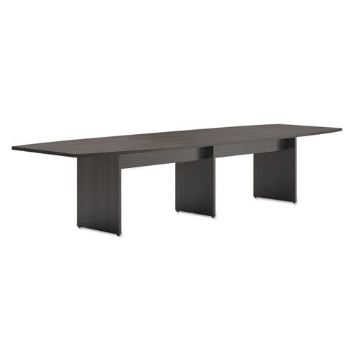 HON Modular Conference Table , Slab Base , Boat End , 48