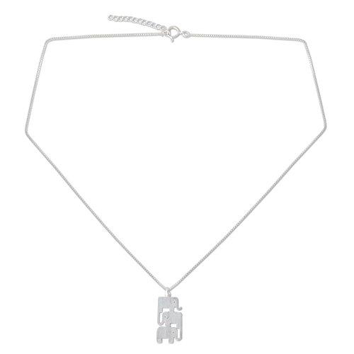 NOVICA .925 Sterling Silver Handmade Pendant Necklace, 18