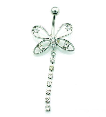 hyidealism plata lazo borlas diseño con Ombligo Ombligo Barbell Anillo Body Piercing perforadas joyas