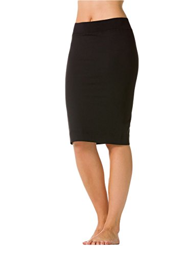 (Skinny Knee Skirt by Hard Tail, Black M)
