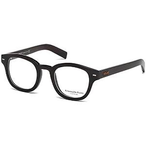 Ermenegildo Zegna Couture Prescription Eyeglasses - ZC5014 063 - Black Horn