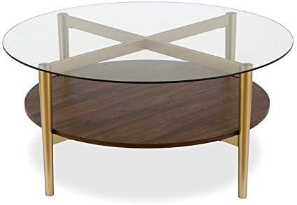 Henn Hart Circular Walnut Coffee Table