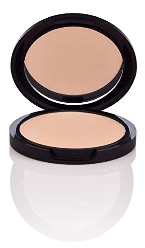 NU EVOLUTION Pressed Powder Foundation Made with Natural Ingredients - No Parabens, Talc, Gluten 201