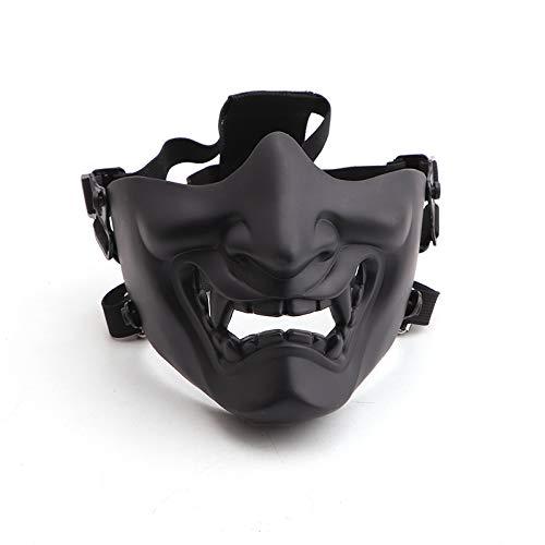 Máscaras protectoras de media cara Anyoupin Airsoft, suministros para fanáticos del ejército para Halloween Airsoft Paintball CS Juego Cosplay y fiesta
