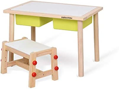 Jtkdl Kids Activity Table With Board For Bricks Activity Play