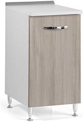 Mobile Base Con Anta Per Cucina Colore Olmo Cm 40x50xh 85 1 Anta Amazon It Casa E Cucina